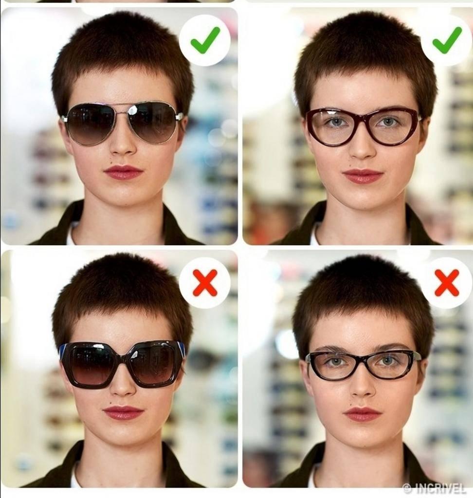 как подобрать оправу для очков женщине