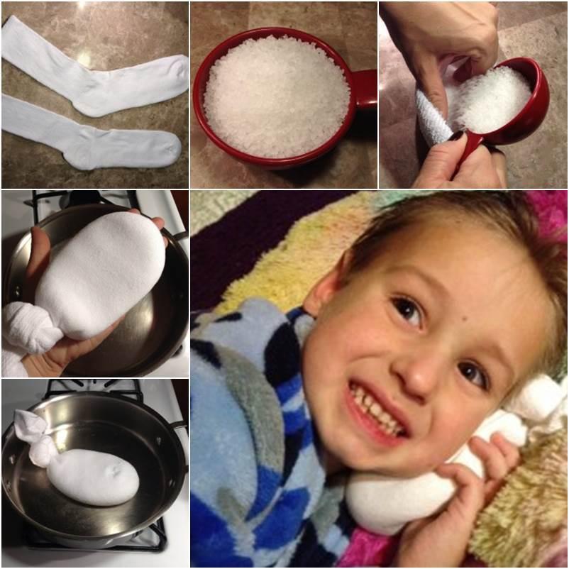 Прогревание уха солью при отите детям