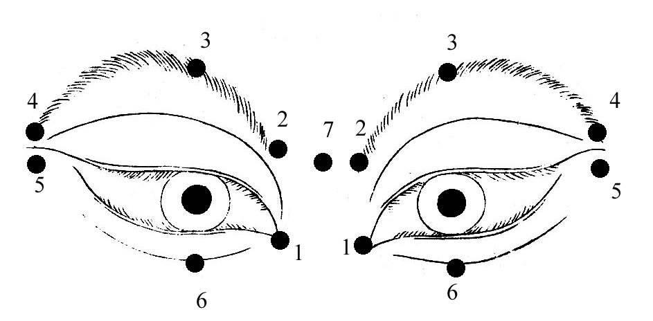 массаж для глаз и глазных точек для восстановления зрения