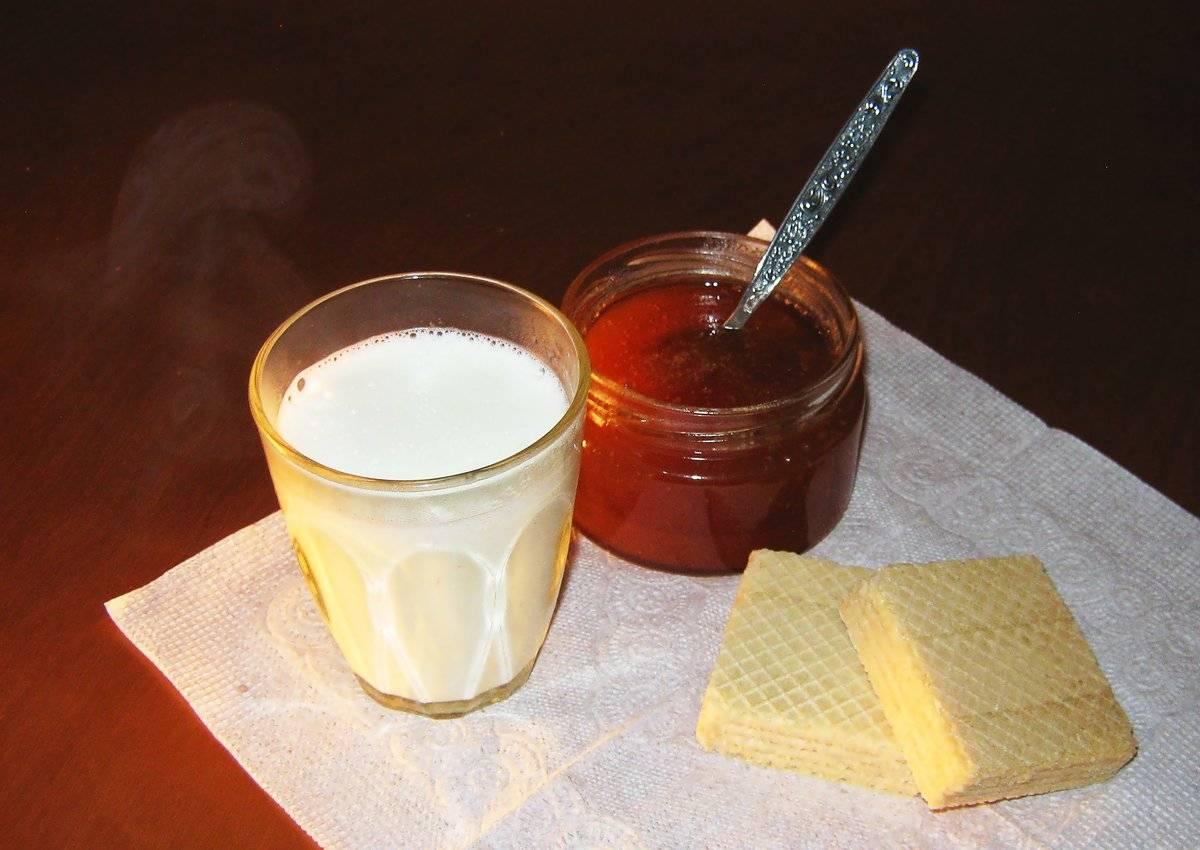 Горячее молоко при кашле или больном горле