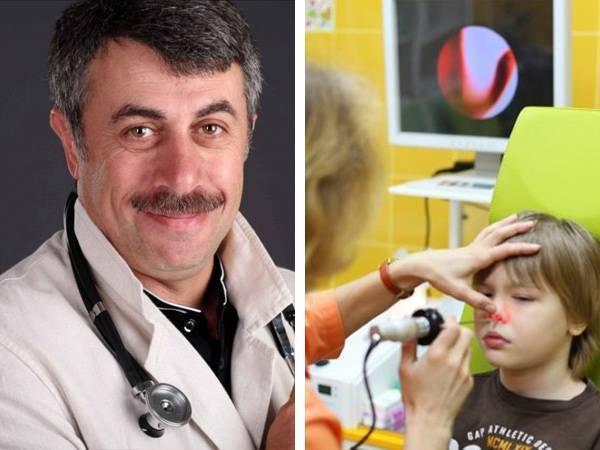 аденоидит у детей симптомы и лечение комаровский