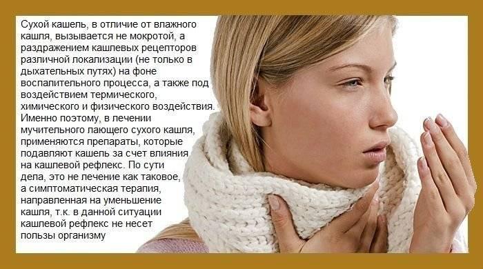 Сухой кашель у взрослого: лечение в домашних условиях