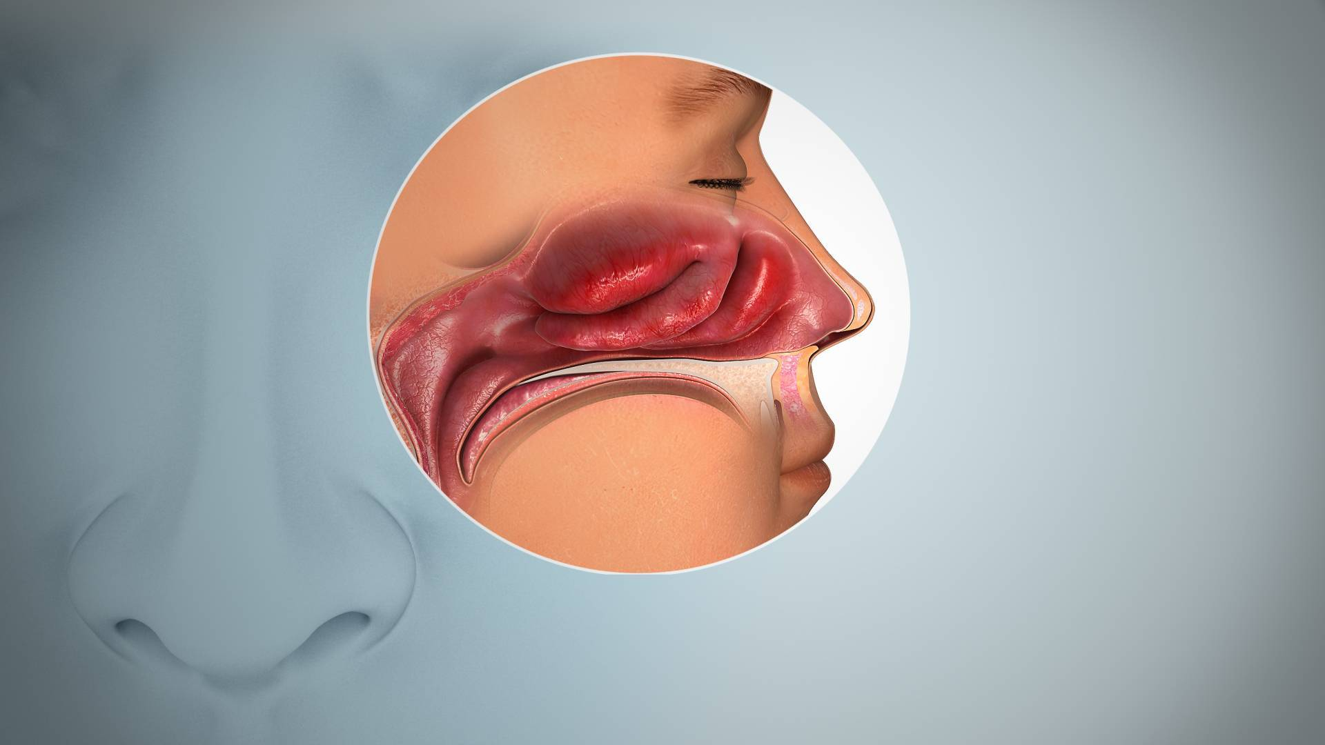 половина носа дышит слабо на вдохе почему