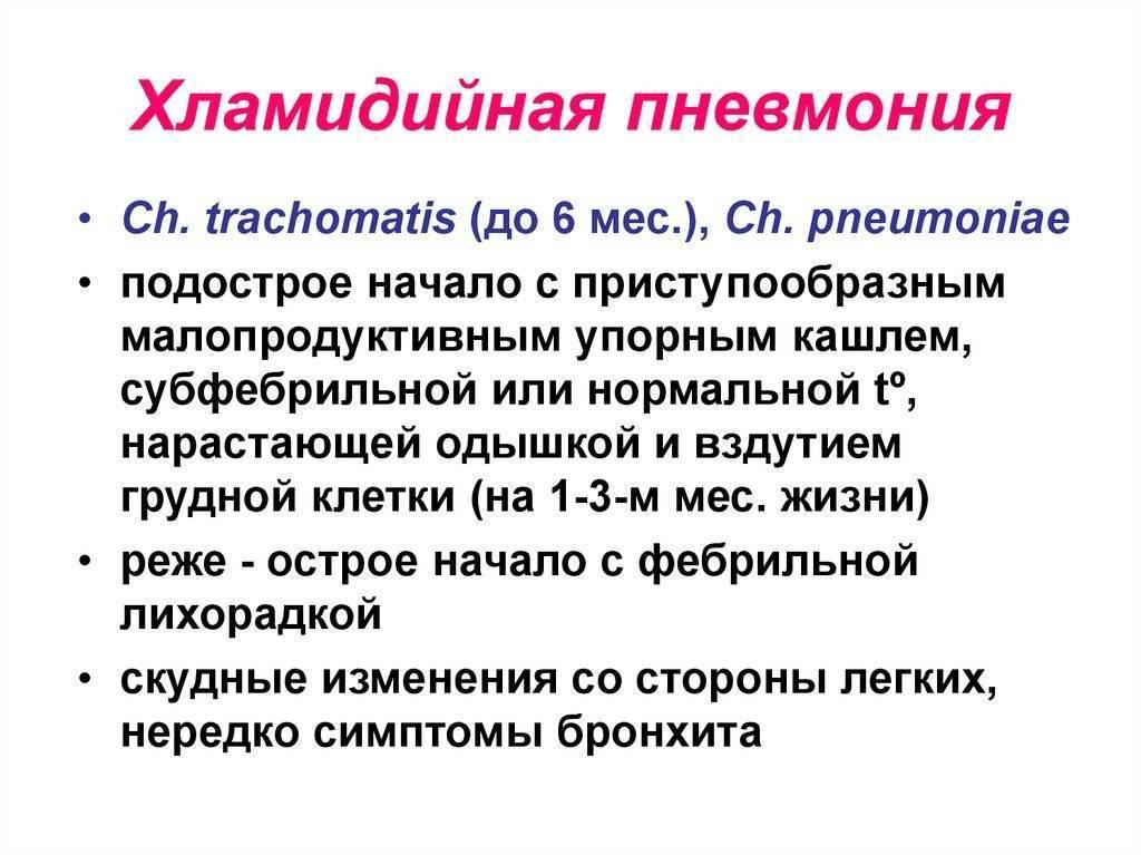 хламидия пневмония у детей