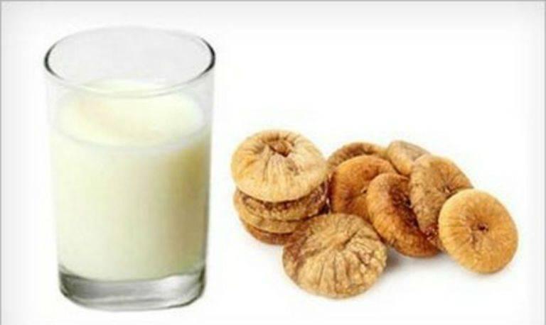Как принимать инжир с молоком от кашля рецепт для детей