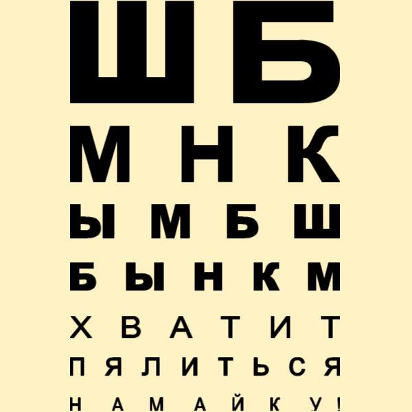 Офтальмологическая таблица для проверки зрения у окулиста для взрослых и детей. где можно бесплатно проверить зрение – у какого врача. фото