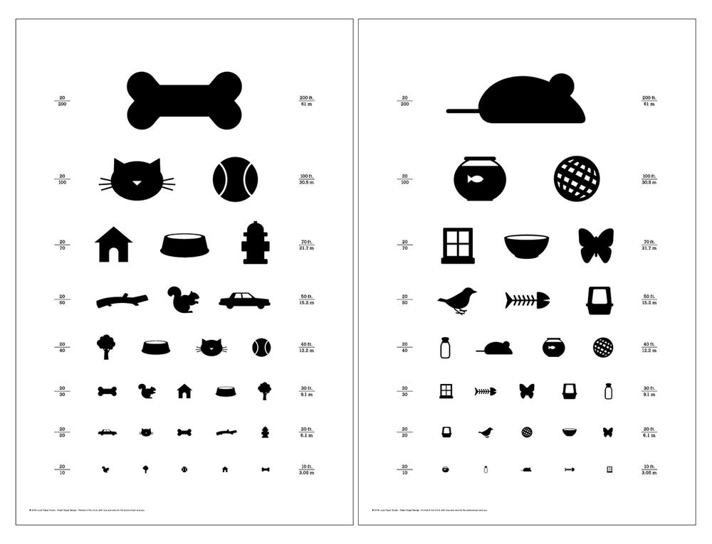 Таблица окулиста для проверки зрения