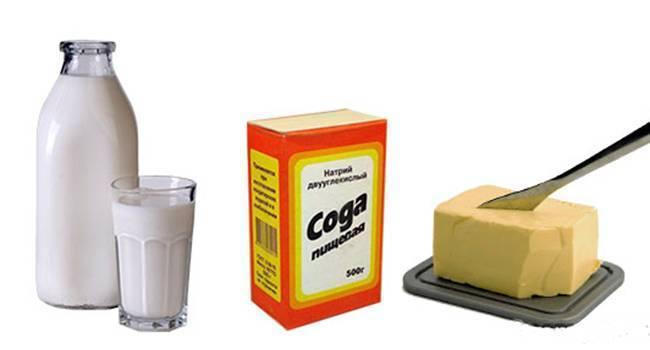 Молоко с маслом от боли в горле