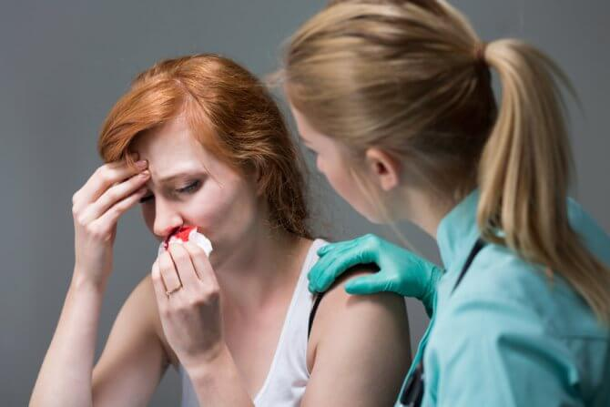 как остановить кровь из носа при беременности