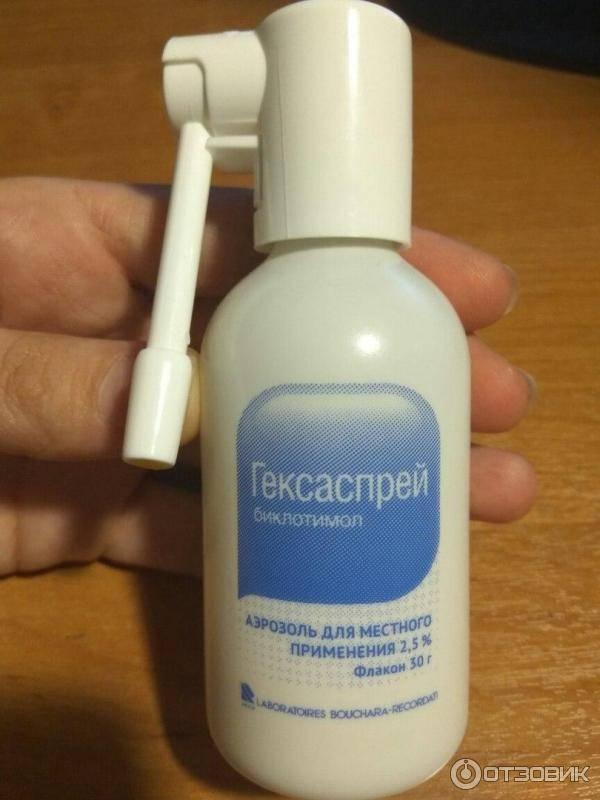 антибиотик спрей для горла