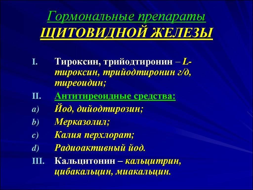 Лекарства для щитовидной железы