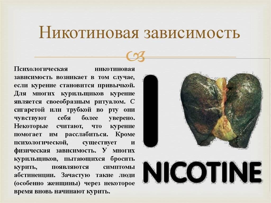 лечение от никотиновой зависимости