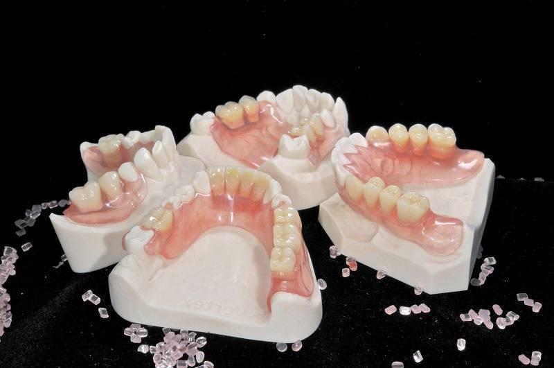 Съемные нейлоновые протезы для зубов