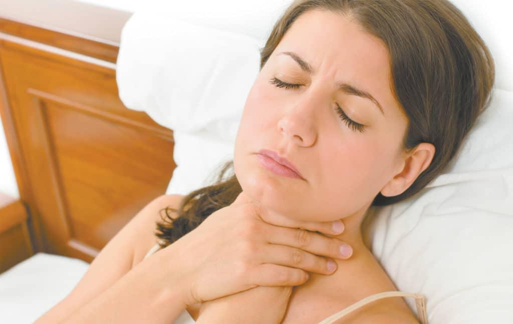 После ангины сухой кашель