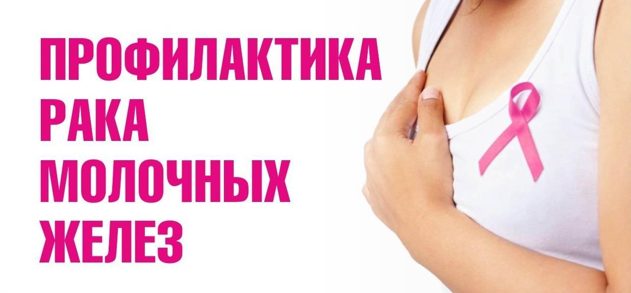 Рак молочной железы – профилактика: диета и обследования. рак груди: симптомы и лечение в 2020 году