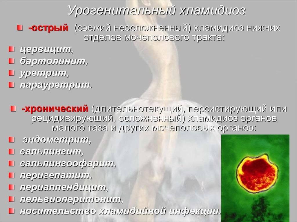 хронический хламидиоз у женщин симптомы