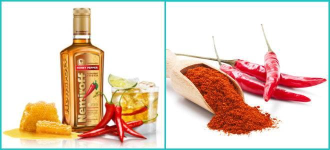 Черный и красный перец при простуде с водкой и медом: помогает ли и отзывы
