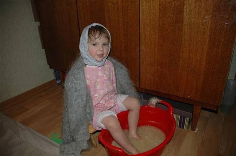 можно ли парить ноги при кашле ребенку