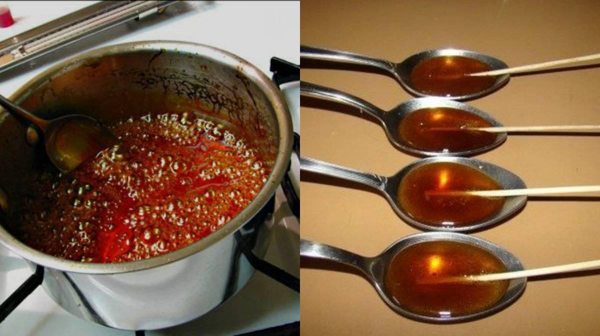 Некоторые рецепты приготовления жженого сахара от кашля