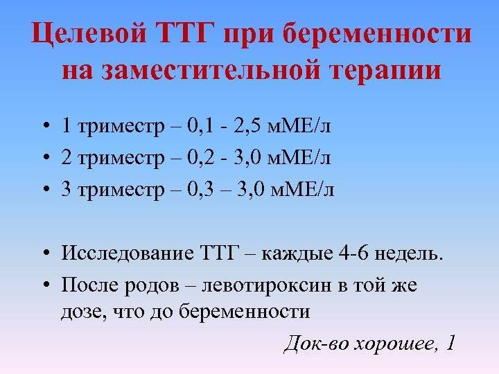 Норма ттг (тиреотропного гормона) при беременности