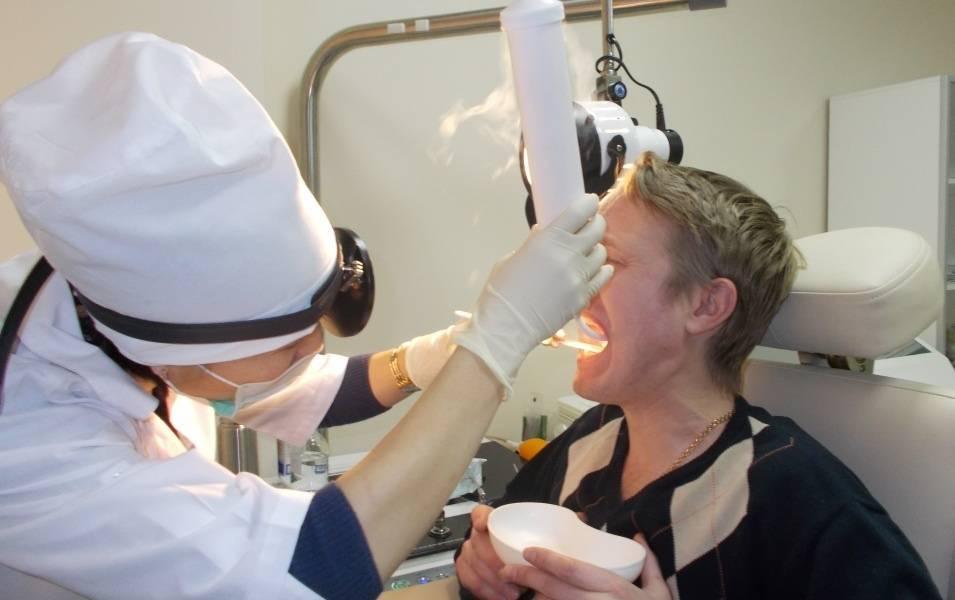 Лечение тонзиллита лазером