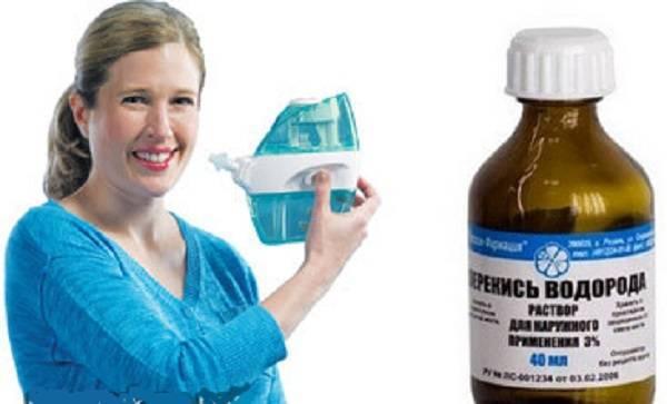 Как использовать перекись водорода при простуде: полоскание горла и промывани носа
