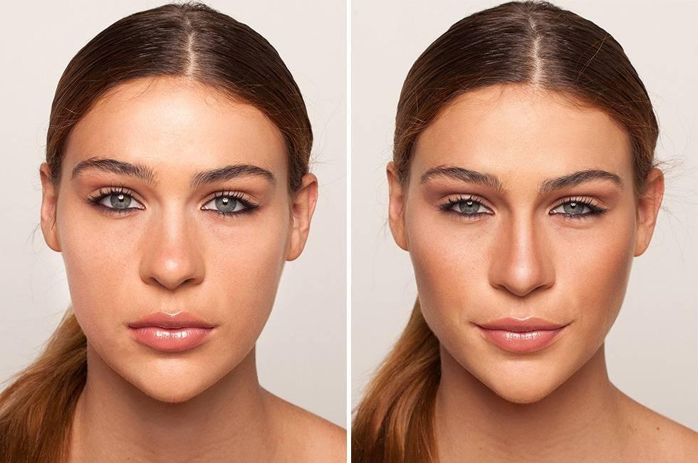 как сделать нос меньше