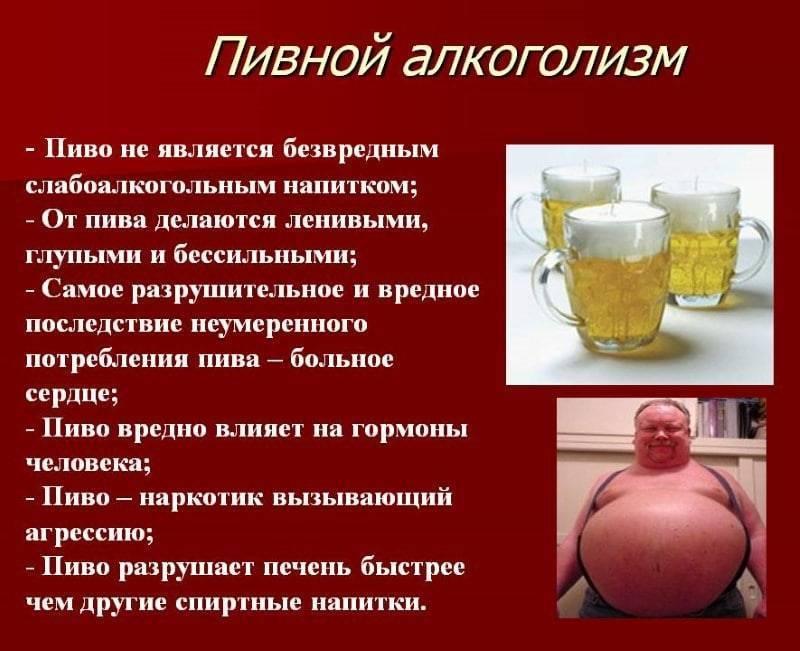Пивной алкоголизм: признаки, особенности, последствия