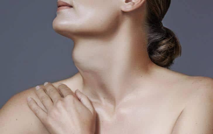 где находится щитовидка у женщин