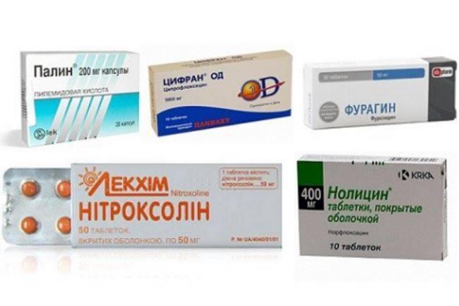 цистит у мужчин лечение препараты антибиотики