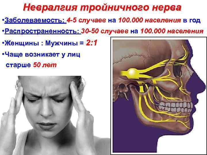 Как диагностировать воспаление тройничного нерва? самые характерные проявления неврита