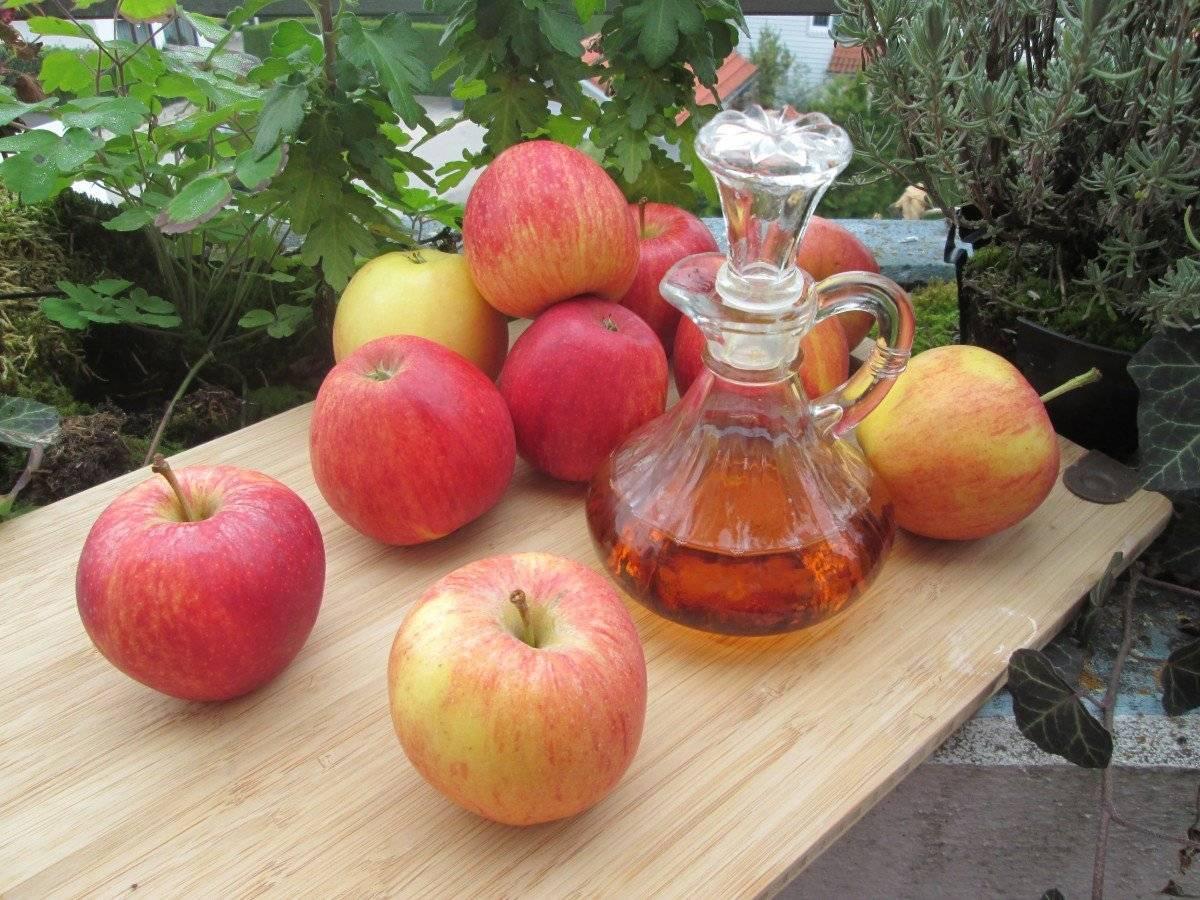 При ангине горло лечат яблочным уксусом