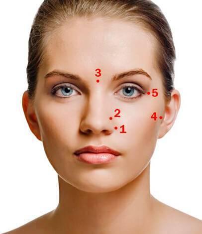 Как делать точечный массаж при заложенности носа и насморке?