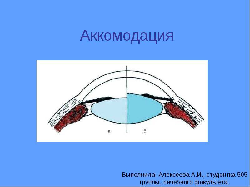 Аккомодация глаза