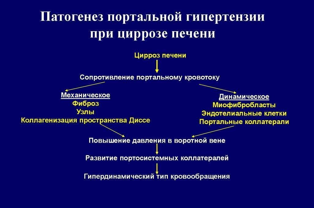 портальная гипертензия при циррозе печени обоснование