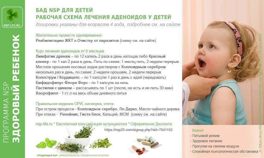 как снять воспаление аденоидов у ребенка