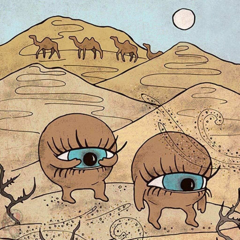В глаз попал песок и болит
