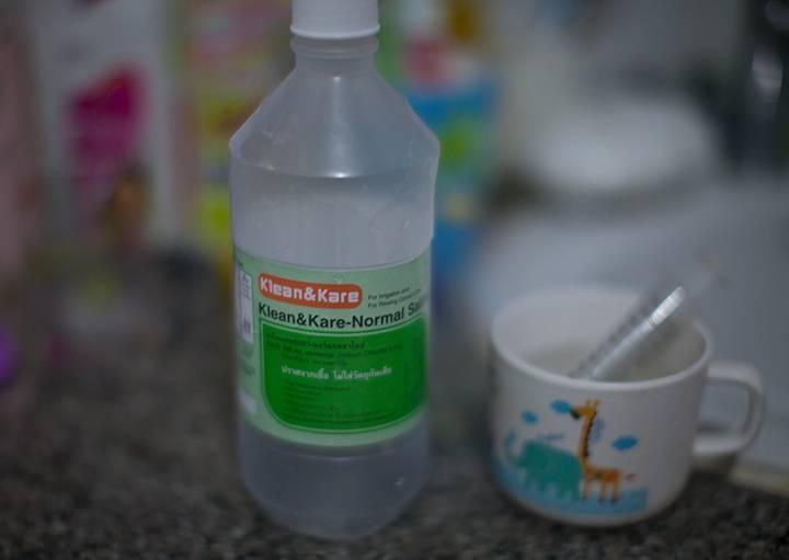 раствор соли для промывания носа ребенку