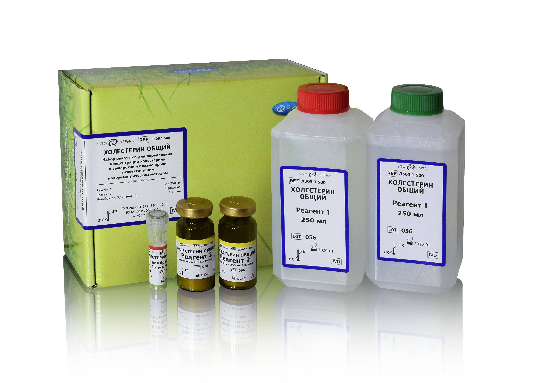 Методы определения общего холестерина в крови и наборы реагентов для них
