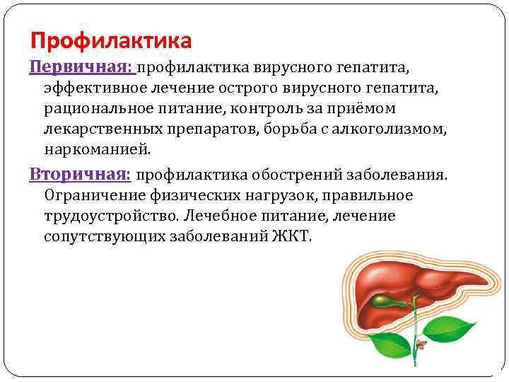 профилактика болезней печени