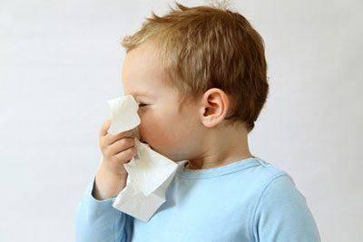 у ребенка насморк и температура 39