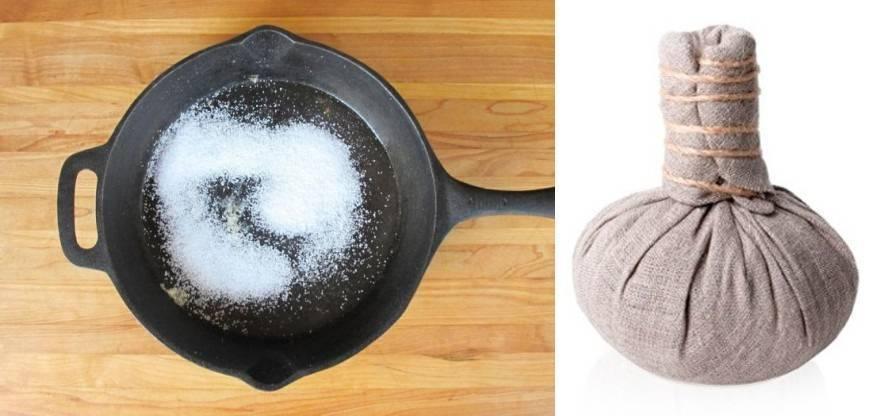 прогревание носа при насморке солью