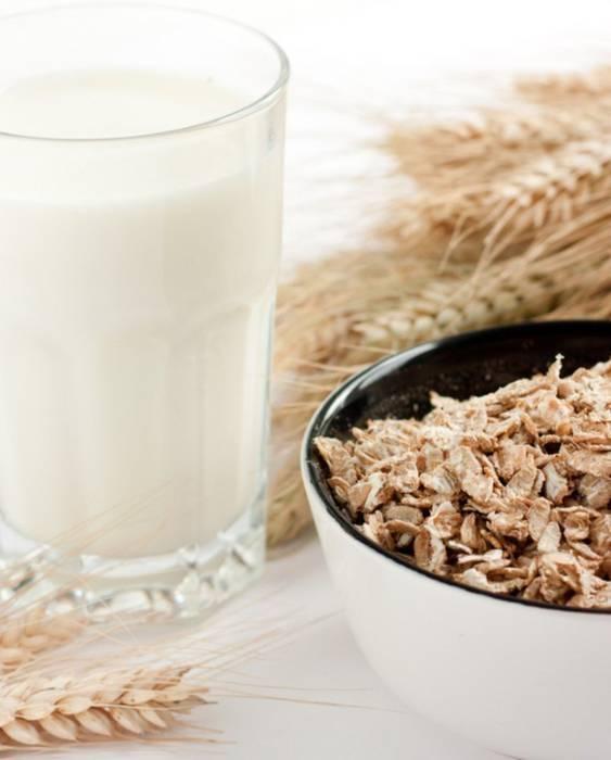 Молоко и овес как средство от кашля