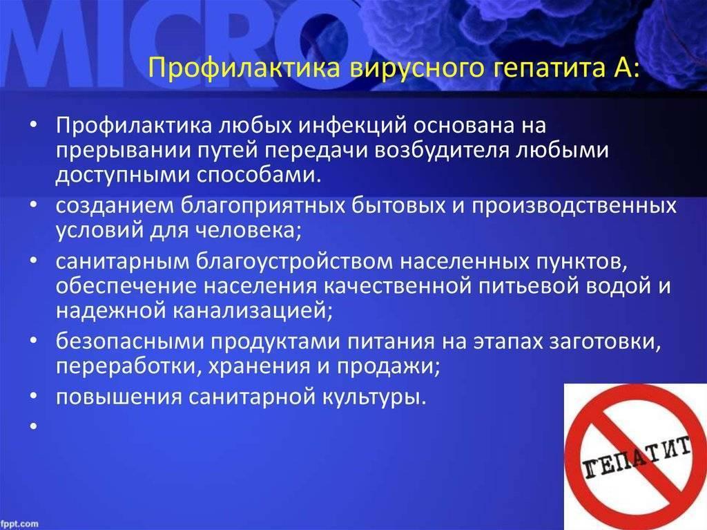 Источник инфекции при вирусном гепатите а