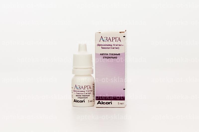 Азарга (azarga) глазные капли. цена, инструкция по применению, аналоги