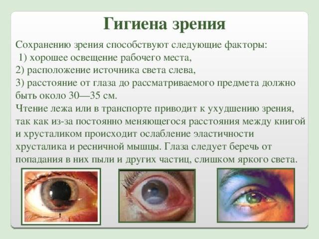 Гигиена и профилактика зрения у детей