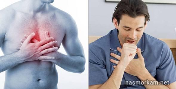 сухой кашель болит грудная клетка