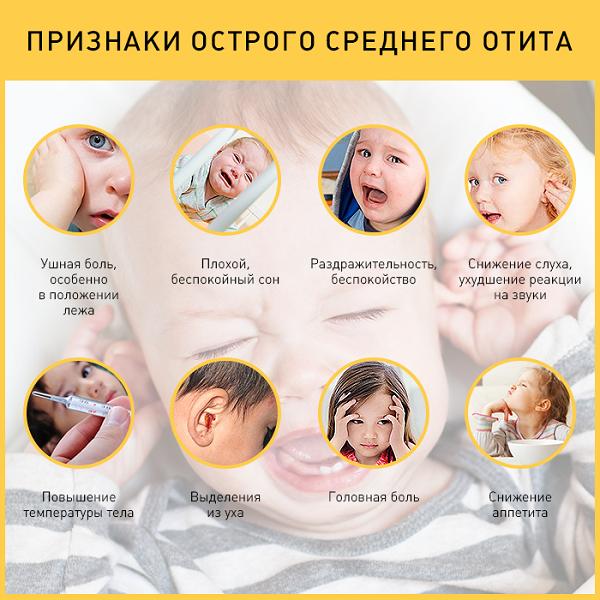 отит чем лечить у детей