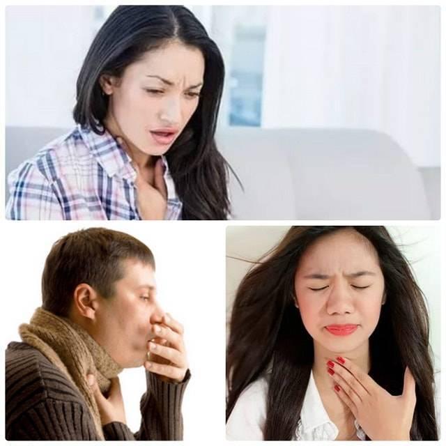 сухой кашель першение
