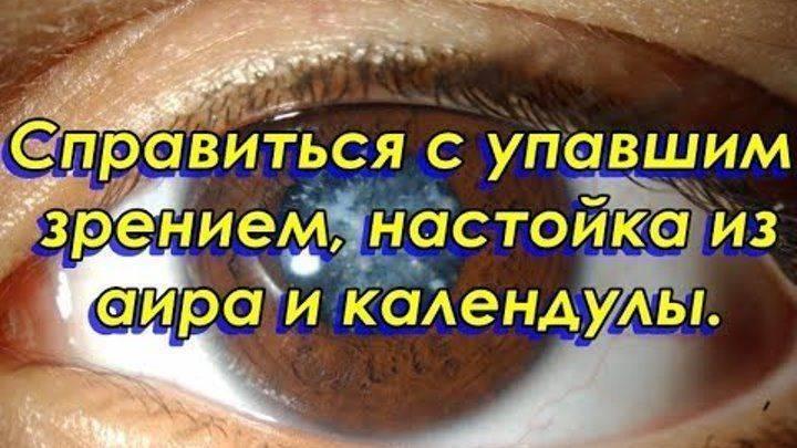 Корень аира и календула — настойка для глаз